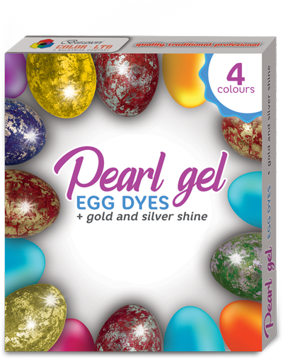 Pearl Gel Egg Dyes + Gold And Silver Shine