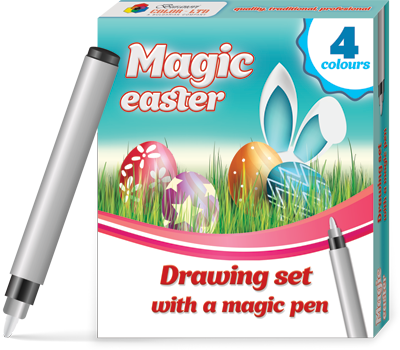 Magic easter drawing set
